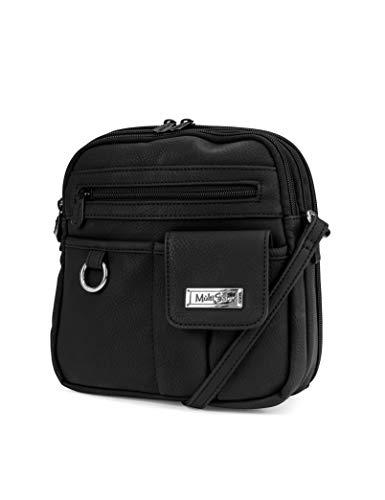 MultiSac womens North South Mini Zip Around Crossbody Bag Cross Body, Black, One Size US