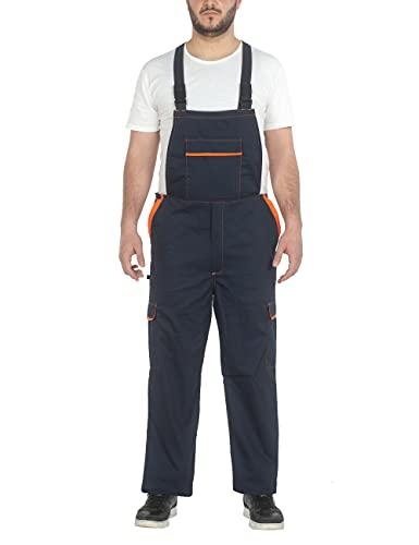 C.B.F. Balducci Group Salopette da Lavoro Multitasche Uomo Donna (Blu/Arancione, M)