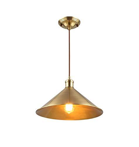 Hai Ying/Noord-Europese kroonluchter van brons, slaapkamer hoofdeinde, single kop, ingang licht, bar restaurant bar kluis E27 (maat: diameter 24 cm)