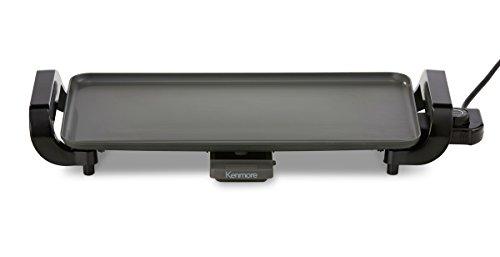 """Kenmore 88916 Plancha eléctrica antiadherente de 10"""" x 18"""" en gris"""