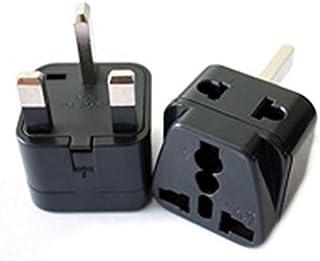 GOUWEI 2 in 1 Universal to UK Plug Adapter Travel to UK/Hong Kong Type G Adapter Converter Socket Splitter Plug Charger El...