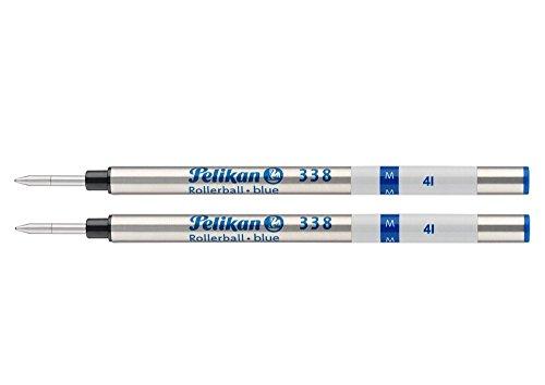 Pelikan 338 Medium Rollerball Refill - Blue (Pack of 2)