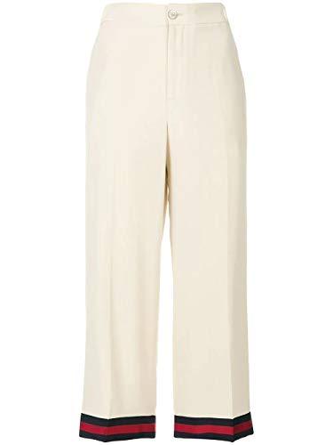 Luxury Fashion | Gucci Dames 494473ZHS039401 Beige Zijde Broeken | Seizoen Outlet