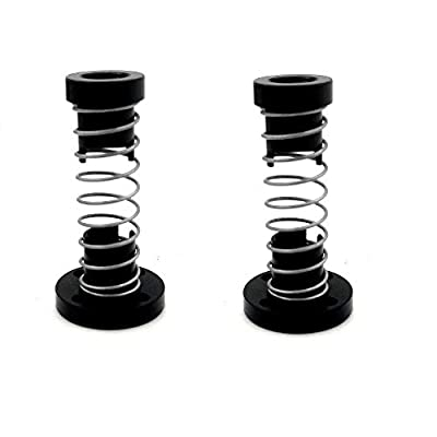 2-Pack 3D Printer T8 POM Anti Backlash Nuts Tr8x2 for Lead 2mm Pitch 2mm Acme Threaded Rod Eliminate The Gap Spring DIY CNC Accessories (Pitch 2mm Lead 2mm)