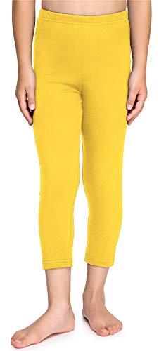 Merry Style Leggings 3/4 Bambina e Ragazza MS10-226 (Giallo, 140 cm)
