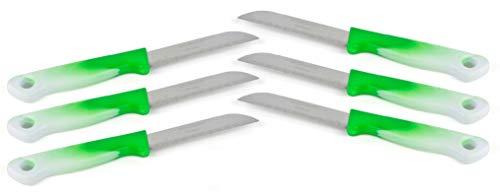 MESSERMANN 6er Messer-Set/Gemüsemesser & Obstmesser, scharfe Küchenmesser Allzweckmesser/Germany rostfrei/Dünnschliff - Super scharf - spülmaschinengeeignet