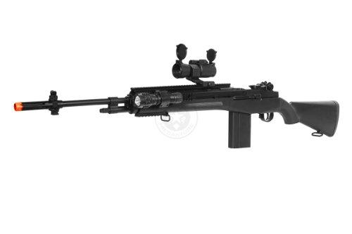 400 fps agm airsoft m14 ris spring sniper rifle w/ red dot(Airsoft Gun)