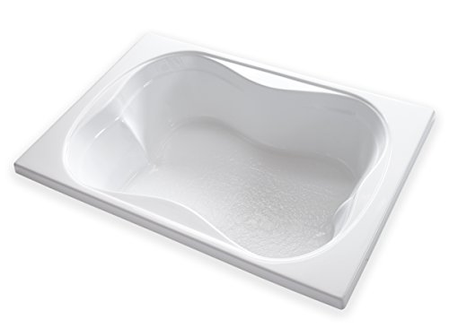 Carver Tubs - TMS7248-72'L x 48'W x 18'H - White Drop In Two Person Acrylic Soaking Bathtub