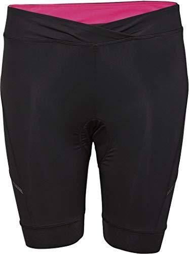 Crivit® Damen Fahrradhose, kurz (Gr. S 36/38, schwarz innen pink)