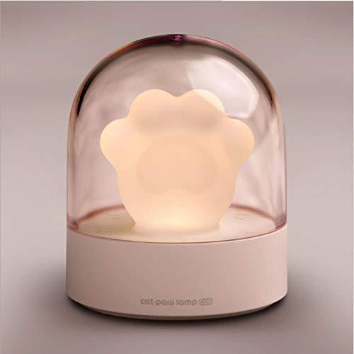 Cat Claw Light Warm Heart Night Light Fun Mood Night Light Moe Pet Lampe de chevet-*_Rose