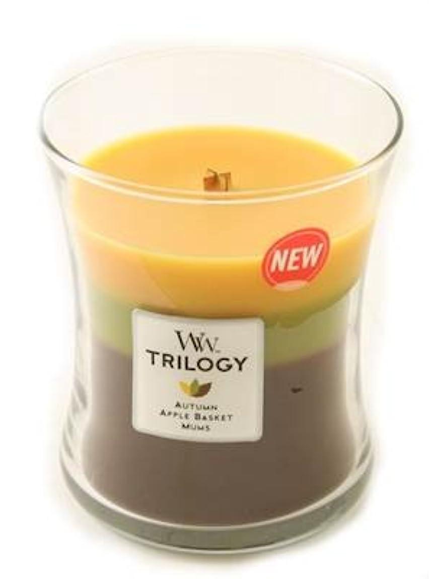 仮装廃棄何故なのFall Traditions WoodWick Trilogy 10オンス香りつきJar Candle?–?3?in 1つ
