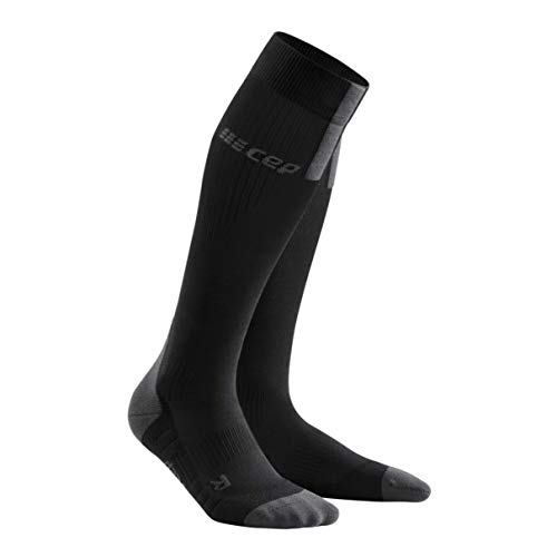 CEP Damen Run 3.0 Socke, black/dark grey, III