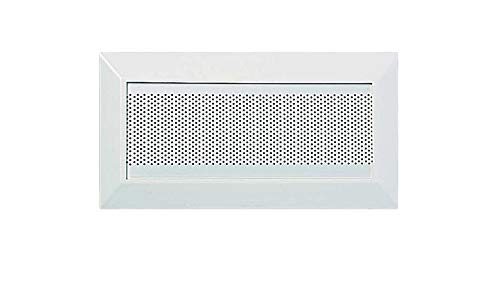 Product Design & Development Holdings Replacement Oval Soffit Vents for 4-inch-W by 12-inch L, ABS and metal self-aligning, Frame, White