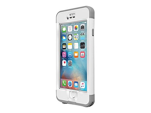 Lifeproof NÜÜD SERIES iPhone 6s ONLY Waterproof Case - Retail Packaging - AVALANCE (BRIGHT WHITE/COOL GREY)