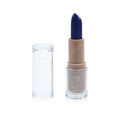 Wasserdichter Lippenstift Matt 14 Farben langlebiger Antihaft-Becher Lippenstift Lippen Makeup Shimmer Lippenstift Kosmetik (4g, Blau 813#)
