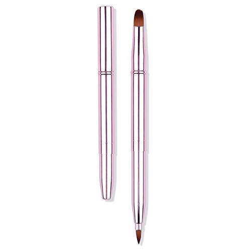 Myboree Dual End Retractable Lip Brush Concealer Makeup Brush with Caps