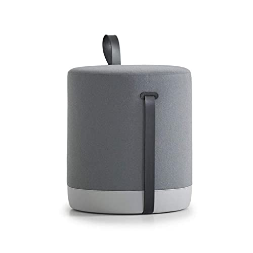 WEIZI Reposapiés de Lujo de Moda nórdica Reposapiés de Franela cómodo Taburete de Sala de Estar para el hogar Sofá Taburetes de Pedal (Color: Gris)