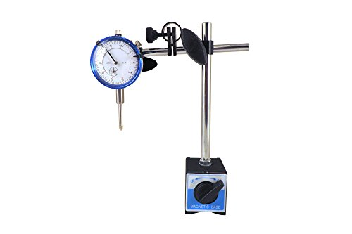 """Magnetic Base with Fine Adjustment and SAE Dial Test Indicator with 0.0005: Resolution (half a thousandth), 1"""" Travel, Accuracy 0.001"""" per 1"""" Mag Base MBDI"""