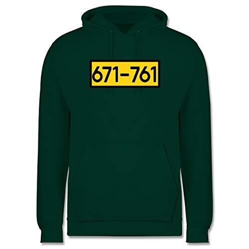Shirtracer Karneval & Fasching - Einbrecher Nr. 671-761 - gelb - XXL - Dunkelgrün - JH001_Hoodie_Herren - JH001 - Herren Hoodie und Kapuzenpullover für Männer