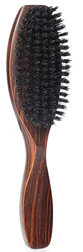 100% Wild Natural Boar Bristle Hair Brush With Wooden Handle for Men and Women s Thin, Fine Hair