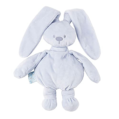 Nattou Lapidou Conejo de peluche , Compañero desde el nacimiento, 36 cm, Azul