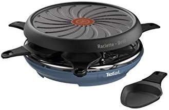 Tefal Colormania RE12A401 - Raclette 2 en 1 con revestimiento antiadherente Easy Plus y 6 cuencos compatibles con lavavajillas 850 W