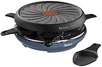 TEFAL Raclette Colormania 2-en-1 Appareil à Raclette et Grill Revêtement Antiadhésif Easy Plus 6 Coupelles Compatible Lav...