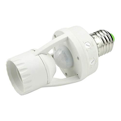 Preisvergleich Produktbild Uonlytech 100-240V / AC Infrarot Bewegungsmelder Steckdose PIR Automatisch einstellbare LED-Leuchten Schalter E27 Lampenfassung Schraube Lampenfassung