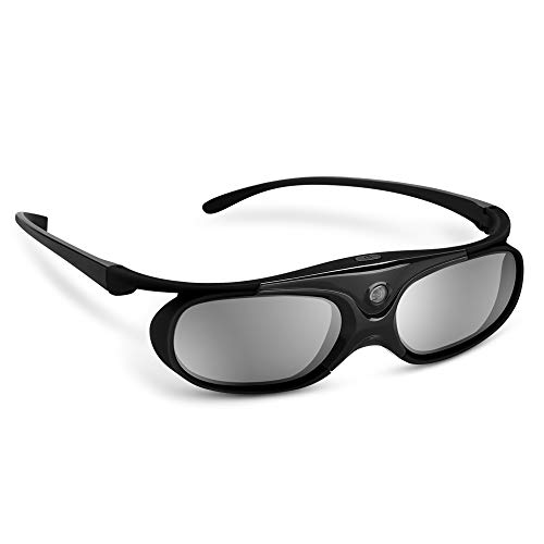BOBLOV DLP Link 3D Glasses Active Shutter 144Hz Rechargeable for