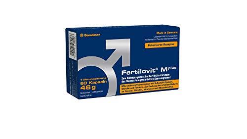 Fertilovit M plus | 60 Kapseln | 1-Monatspackung | hochdosierte Antioxidantien, Zink, Selen und mehr/zum Diätmanagement bei eingeschränkter männlicher Fruchtbarkeit