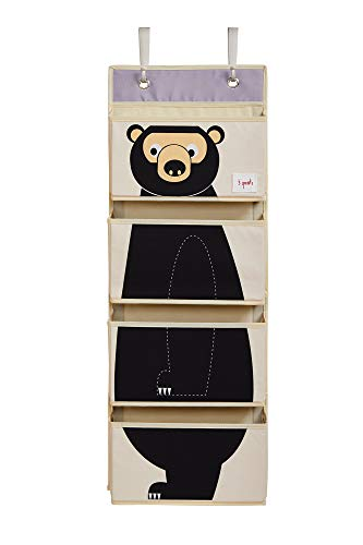3 Sprouts Hanging Wall Organizer- Storage for Nursery and Changing Tables, Bear