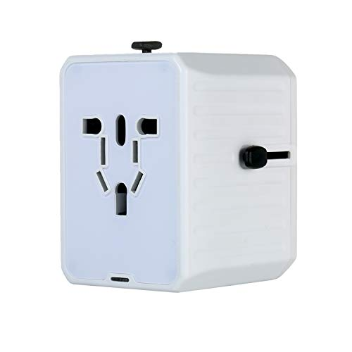 Adaptador de viaje 4 USB Cargador de pared Adaptador de enchufe de CA con alimentación inteligente y protección múltiple para EE. UU. UE Reino Unido AUS