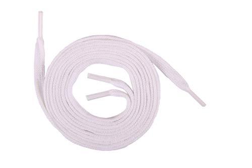 Die Schuhanzieher 1 Paar Flachsenkel Flache Schnürsenkel Schuhband aus Baumwolle 5mm SCHMAL z2220(120 cm,Weiss)
