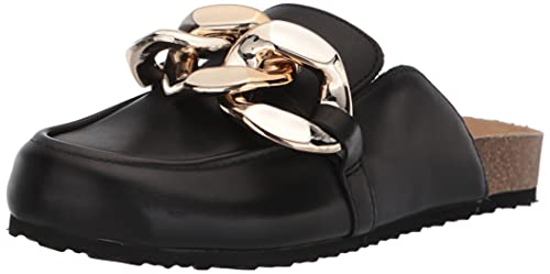 Steve Madden Women's Study Clog, Black Leather, 7