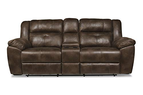 New Classic Furniture Gershwin Console Loveseat, Brown