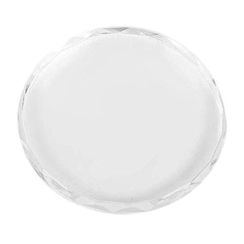 HLPIGF Vidrio Nail Art Color Paleta de Mezcla Patrón de Dibujo, Vidrio Transparente Nail Art Palette Pintura Dibujo Color Pigmento Plato Manicura