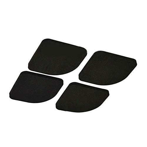 chenshaorme 4PCS Negro EVA Multifuncional Lavadora de ratón Anti-Shock Antideslizante Frigorífico Silencio Pad