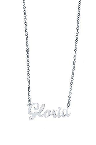 Collar de mujer con nombre de plata 925, collares personalizados, idea de regalo con nombres