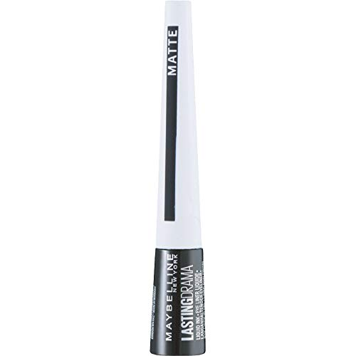 Maybelline New York Eyeliner Master Ink Matte Black / Konturenstift Schwarz, optimale Farbdosierung mit mattem Finish, 1 x 3 g