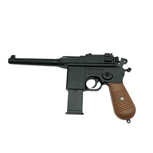 Softair Pistole Metall Rayline RV10 (Manuell Federdruck), Nachbau im Maßstab 1:1, Länge: 24,5cm, Gewicht: 360g, Kaliber: 6mm, Farbe: Schwarz - (unter 0,5 Joule - ab 14 Jahre)