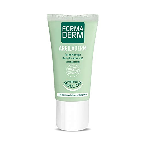 Formaderm - Gel Articulations Roll-On Argiladerm - Gel Massage à l'Argile Verte, Huiles...