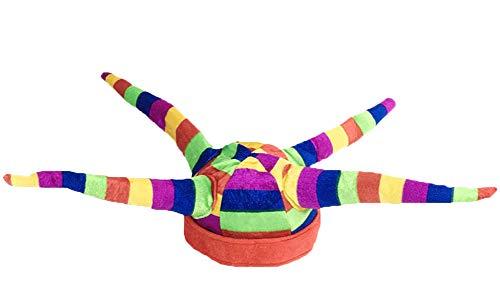 Black Temptation Disfraz de Sombrero de Bufón Sombrero de Bufón Divertido Disfraces de Fiesta de Halloween, Sombrero de Payaso #12