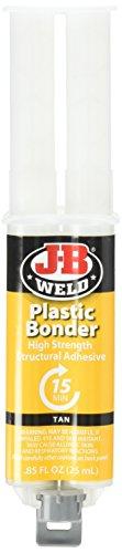 J-B Weld 50133 Plastic Bonder Structural Adhesive Syringe - Dries Tan - 25 ml (Pack of 2)