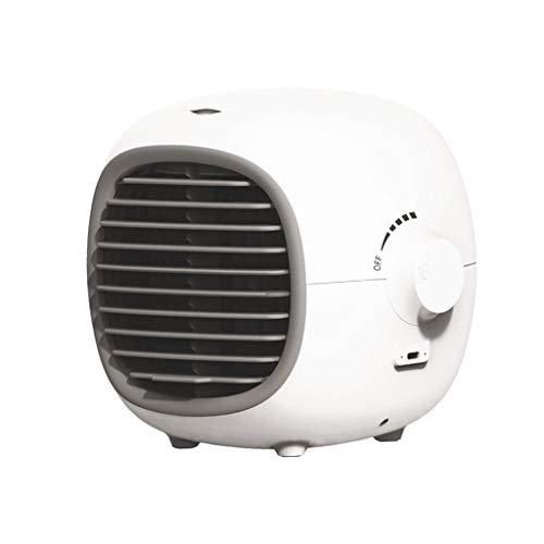 Baoblaze Ventilador de Refrigeración por Aire, Ventilador de Aire Acondicionado El Ventilador de Escritorio Puede Agregar 200 Ml de Agua Y Hielo Ventilado - Blanco