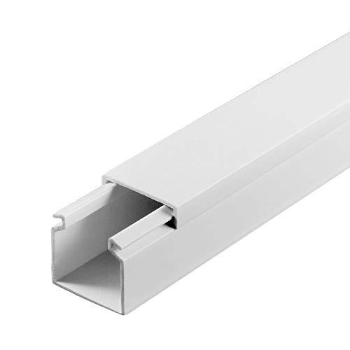 SCOS Smartcosat SCOSKK113 30 m Kabelkanal (L x B x H 2000 x 25 x 25 mm, PVC, Kabelleiste, Schraubbar) weiß