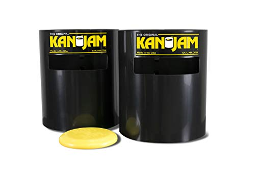 KanJam Original Portable Disc Slam Outdoor Game - Features Durable, Weather Resistant Material - Includes 2 KanJam Targets and 1 Flying Disc; Multiple Styles Available