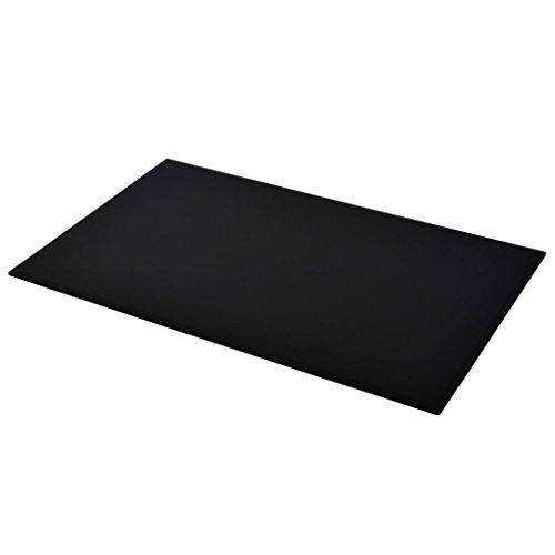 Cristal de mesa negro. Protector de mesa Rectangular, varias oferta disponibles.
