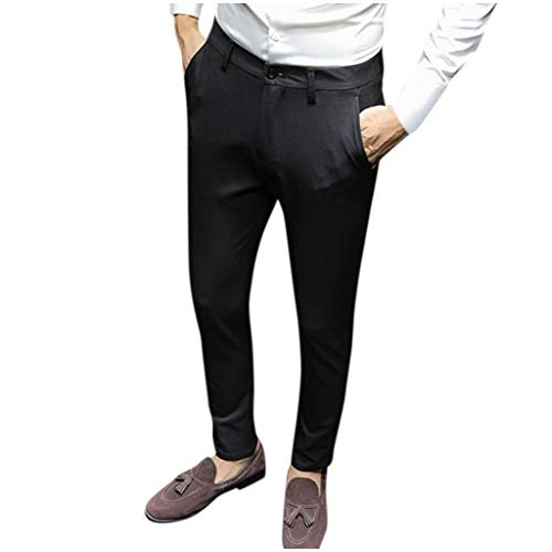 Tommy Hilfiger mens Modern Fit Separate - Custom Jacket and Selection Tuxedo Pants, Black Pant, 38W x 30L US