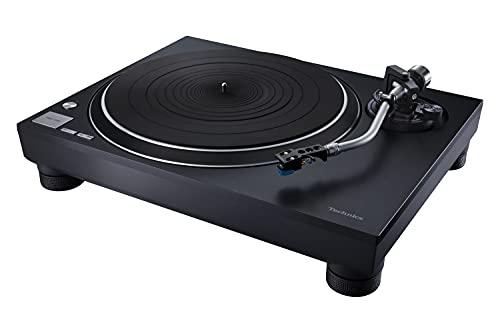 Technics SL-100 Tocadiscos Premium de Tracción Directa (Elevación Automática de la Aguja, Diseño Elegante y Clásico, Tocadiscos para DJ), Negro