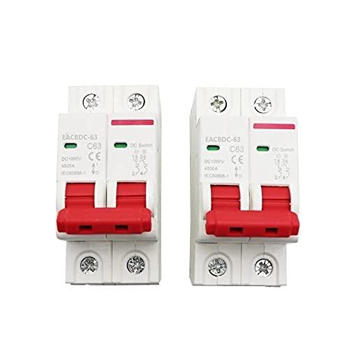 Mini interruptor de protección de sobrecarga con disyuntores solar DC 6A / 10A / 16A / 20A / 25A / 32A / 40A / 50A / 63A 2P-20A